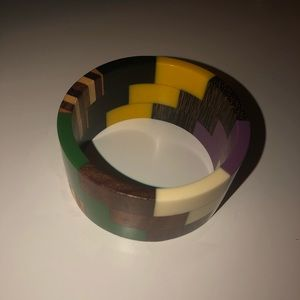 Colorful wooden bracelet